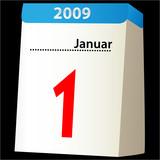 1. Januar 2009 - blue edition poster