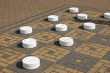 Outdoor game of draughts/checkers 2 poster