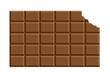 angebissene schokoladentafel