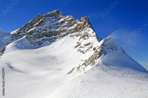 Mount Jungfrau as viewed from Jungfraujoch, Switzerland.