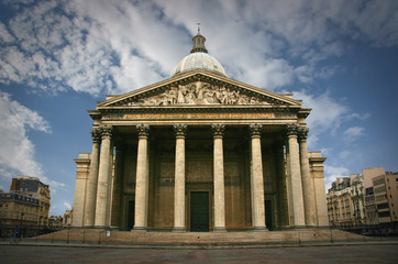 Front view of Pantheon in Paris