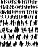 Fototapety Collection Of Family Silhouettes