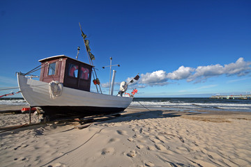 Usedom-Fischerboot in Koserow