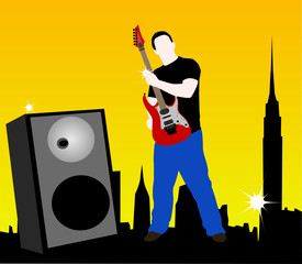 Músico en la ciudad