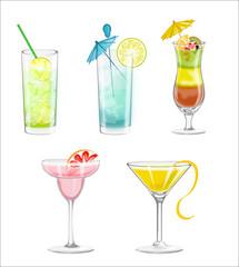 colour drinks vector