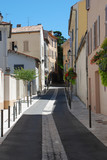 Picturesque little street in the provence (south of France) poster