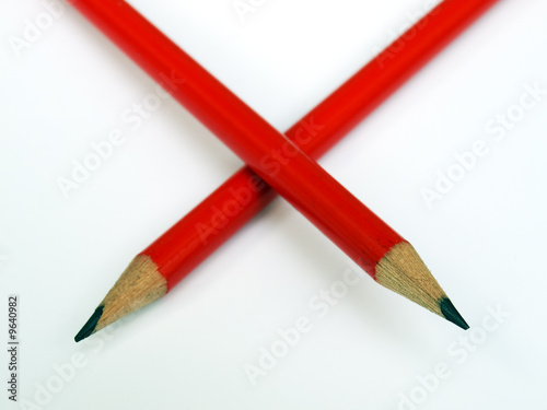 Red wooden pen