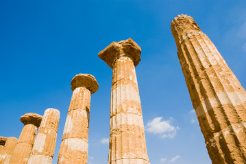 dorics columns of Valley Of Temples in Agrigento