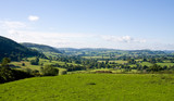 Landscape of rolling welsh countryside poster
