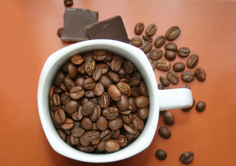 Chocolate-Coffee background, and cap