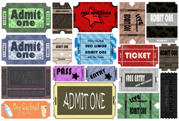 "Ticket "" Admit One "" Event Collection"