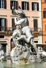 Fontana del Nettuno, piazza Navona Roma