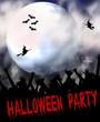 halloween party plakat - vollmond