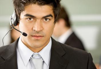 customer service representative - business man smiling