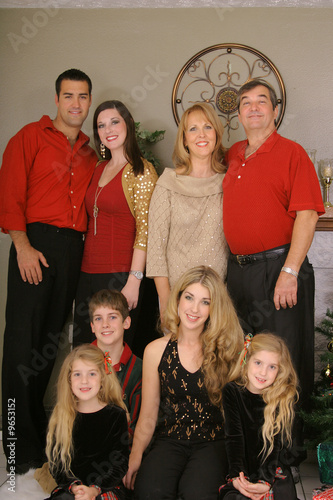 merry christmas family vertical upclose