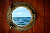 Fototapeta Widok oceanu z okna kajuty