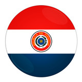 Abstract illustration: button with flag from Paraguay country poster