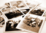 Stack of old photos - 9656316