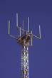 telecommunications tower for broadcasting on perfect blue sky