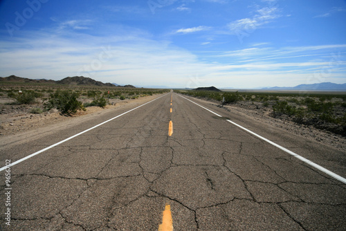 Historic empty route 66 highway, california