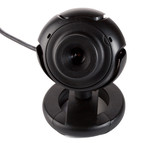 close-up black webcam, isolated on white poster