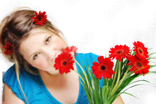red flower power girl 2