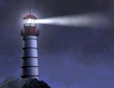 Fototapety Night Lighthouse Beam