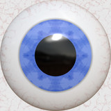 A 3 dimensional blue eye texture with reflections. poster
