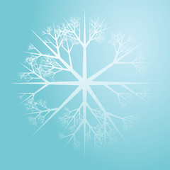 Snowflake pattern design abstract illustration on gradient