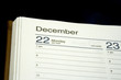 Close up on the date of Hanukkah in a planner