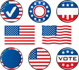 Vote Icon Set. Easy To Edit Vector Image. poster