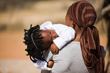 african family, mother and child,