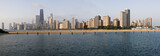 Panoramic view of Chicago from North Ave beach - XXL poster