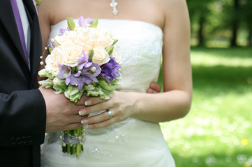 very romantic wedding background with the flowers