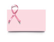 pink ribbon, business card, breast cancer