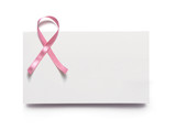 pink ribbon, business card, breast cancer poster