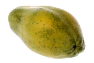 Isolated image of a Malaysian papaya.
