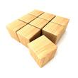 Cube bois clair