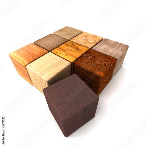 Cube bois color