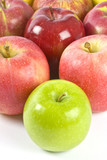Bunch of Apples with Granny Smith in Front poster