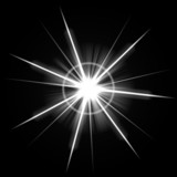 An abstract lens flare. Very bright burst poster