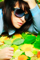 Portrait of a styled professional model. Theme: beauty, fashion