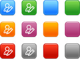 Color buttons with edit user icon poster