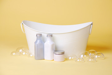 baby basin with luxury soaps