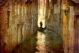 Postcard from Italy. - Gondola - Venice.-