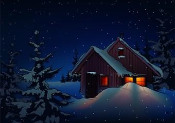 Snowy Christmas 2 - background illustration