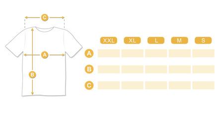 Dimensioni T-shirt