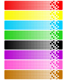 Set of abstract banners with pixels poster