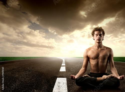 yoga on the street