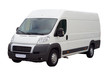 new white lorry van isolated, with blank place for text - 9697157